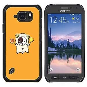 LECELL--Funda protectora / Cubierta / Piel For Samsung Galaxy S6Active Active G890A -- d divertida lyagushka rana --