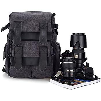 Amazon.com: BESTEK Waterproof Canvas DSLR Camera Shoulder Bag with ...