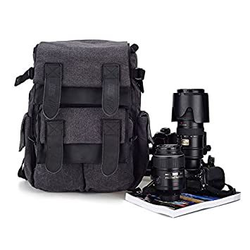 Amazon.com: Dslr SLR Waterproof Camera Backpack by BESTEK - For ...