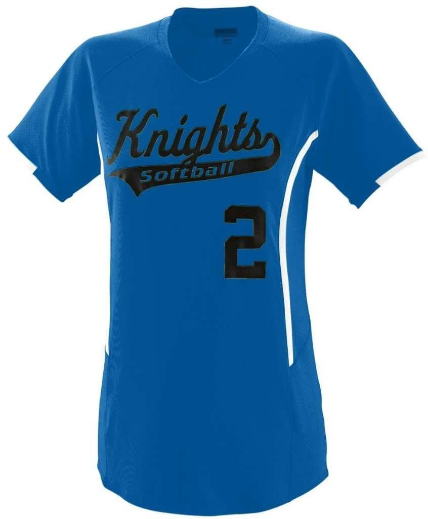 Augusta Sportswearレディース熱ジャージー B00GK5UIK6 Small|ロイヤル/ホワイト ロイヤル/ホワイト Small