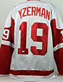 Red Wings Steve Yzerman Authentic Signed White Jersey Autographed PSA/DNA