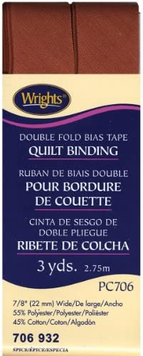 3-Yard Spice Wrights 117-206-932 Extra Wide Double Fold Bias Tape