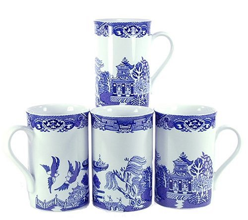 Royal Cuthbertson Blue Willow Mugs, Set of (Cuthbertson Blue Willow)