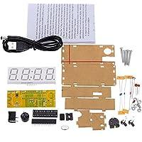 WINGONEER 4-Digit DIY LED Electronic Clock Kit...