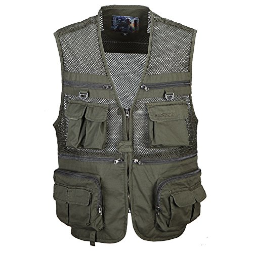 DDDFVVDS MJJ Herren Casual Camo Vest. Outdoor Mesh Angeln Weste für Men. lose für große Fotografie Weste B01JYVJESO Bekleidung Neuer Stil