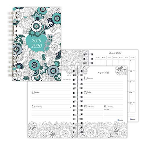 (Blueline DoodlePlan Weekly/Monthly Academic Coloring Planner, Botanica, 8 x 5 inches (CA2910.01-20))