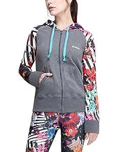Desigual Mujer Woven Camiseta Sudadera para Hombre, otoño/Invierno, Mujer, Color Gris - Gris, tamaño XS: Amazon.es: Deportes y aire libre