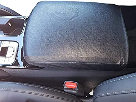 its us Black Synthetic Leather Center Console Lid Cover Armrest Box Protector for Toyota Tundra 2014 2015 2016 2017 2018 It/'s us