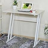 ZJ-computer table Creative Computer Desk - Desk Home Student Computer Desk Portable Removable Bed Desk/Desk Bed Table Standing Table Home Mobile Desk && (Color : White)