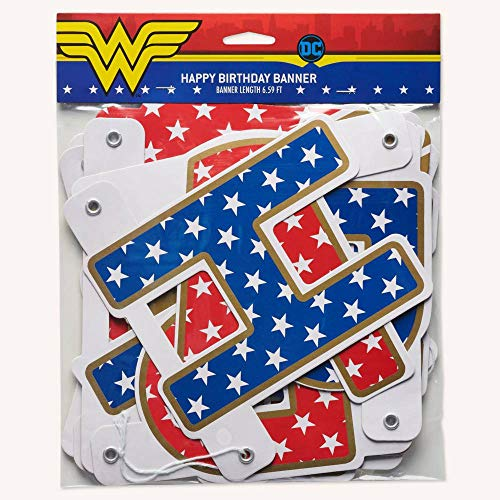 Wonder Woman Birthday Party (American Greetings Hanging Banner-Wonder)