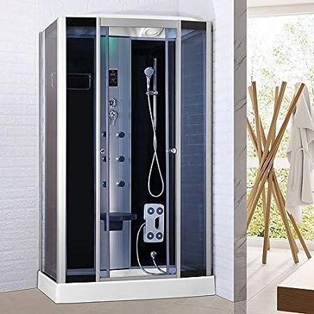 Baño Italia Box hidromasaje 120 x 80 cabina ducha multifunción Bluetooth cromoterapia ozonoterapia: Amazon.es: Bricolaje y herramientas