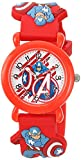 Marvel Boy's 'Avenger' Quartz Plastic Casual Watch, Color:Red (Model: WMA000155)