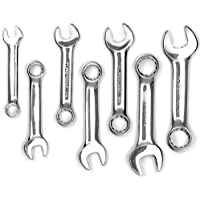Powerbuilt 640203 SAE Stubby Combination Wrench Set, 7-Piece by Powerbuilt