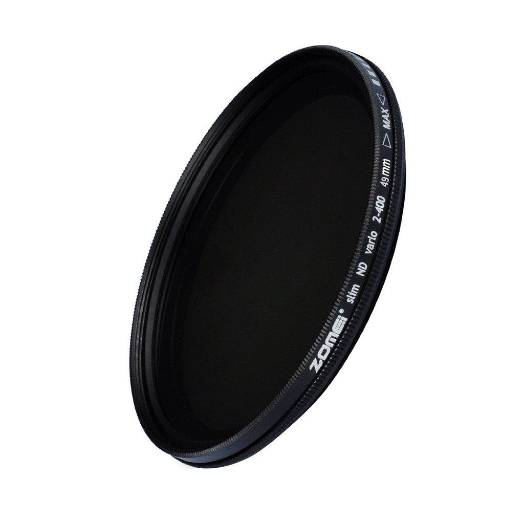 ZOMEi 49mm Ultra Slim ND2-ND400 Fader Variable Neutral Density Adjustable Lens Filter Ultra Slim ND Filter Optical Glass