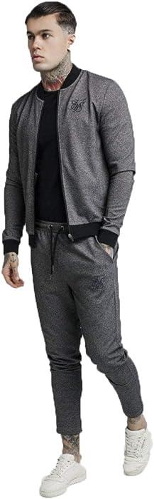 Sik Silk Chaqueta Tech Tweed Tape Bomber - Grey: Amazon.es ...