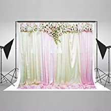 Kate 10x6.5ft Wedding Photography Backdrop White and Pink Flower Photo Background Cotton Stage Decorations Backdrops for Photographers HYY00174