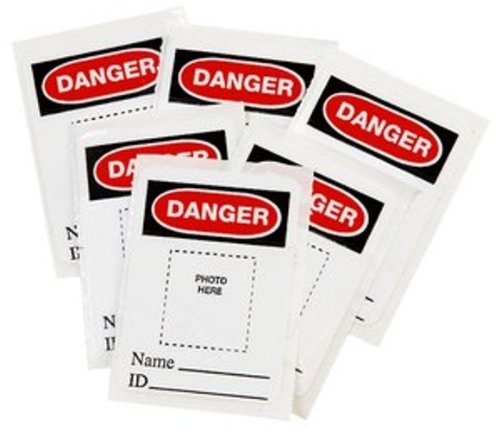 Master Lock 6835-5700 Photo ID Labels For 6835, 6836 and A1100 Series, Each Bag Includes 6 Labels