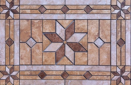 Mosaic Design X Tile Medallion Deco Daltile Heathland - Daltile prices online