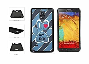 Tony Diy Dog With Paw I Love My Dog to cell phone case cover Back Cover Samsung Galaxy Note IV 4 from N910 relies Dd90UJf6Mr8