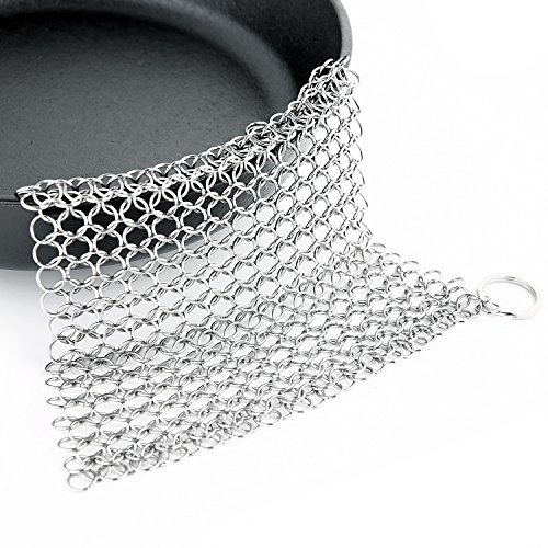 Ohuhu Stainless Chainmail Scrubber Cleaning
