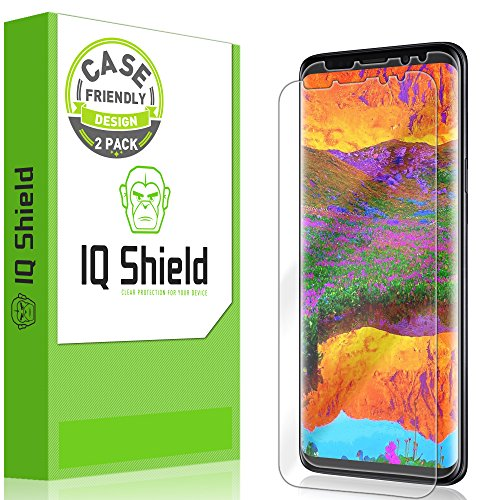 (IQ Shield LiquidSkin Case Friendly Screen Protector for Galaxy S9 Plus HD Clear Film [2-Pack])
