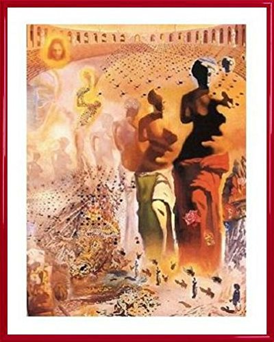 Salvador Dali Poster Art Print and Frame (Plastic) - The Hallucinogenic Toreador, 1968-70 (20 x 16 inches)