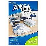 ziploc storage bags vacuum jumbo - Ziploc Space Bag 4-Piece Flat Combo Set l Easy to Organize and Store Clothing …