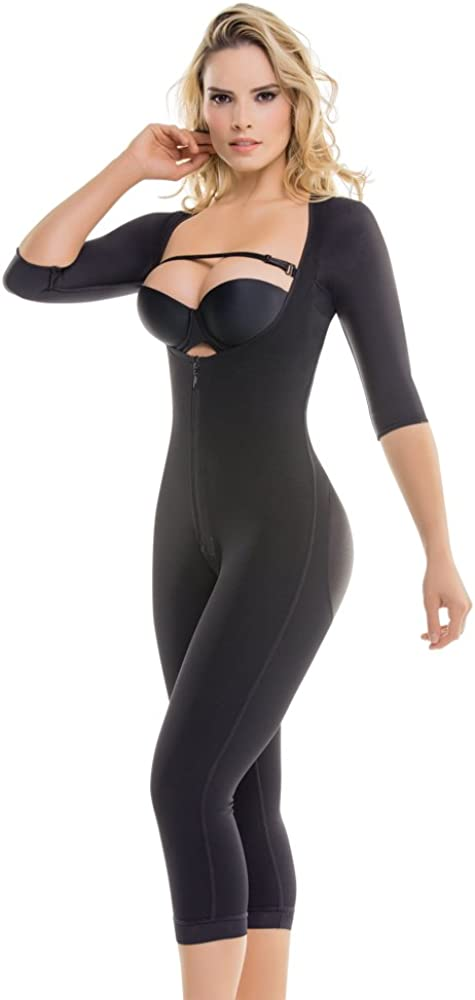295 Women/'s Top-to-Bottom Arms /& Legs Full Body Shaper Firm Control Long Sleeve Shapewear Slimming Compression Bodysuit