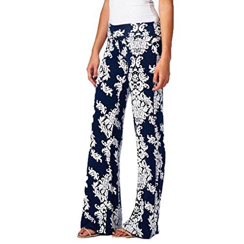 DaySeventh Women Loose Trouser Floral Prints Drawstring Wide Leg Leggings Pants (XL, multicolour 31)