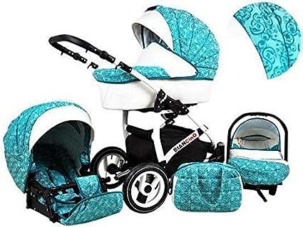 Poussette Landau 3 en1 2en1 Isofix set complet avec si/ège auto Biancino by ChillyKids Lavender 2en1 sans si/ège b/éb/é
