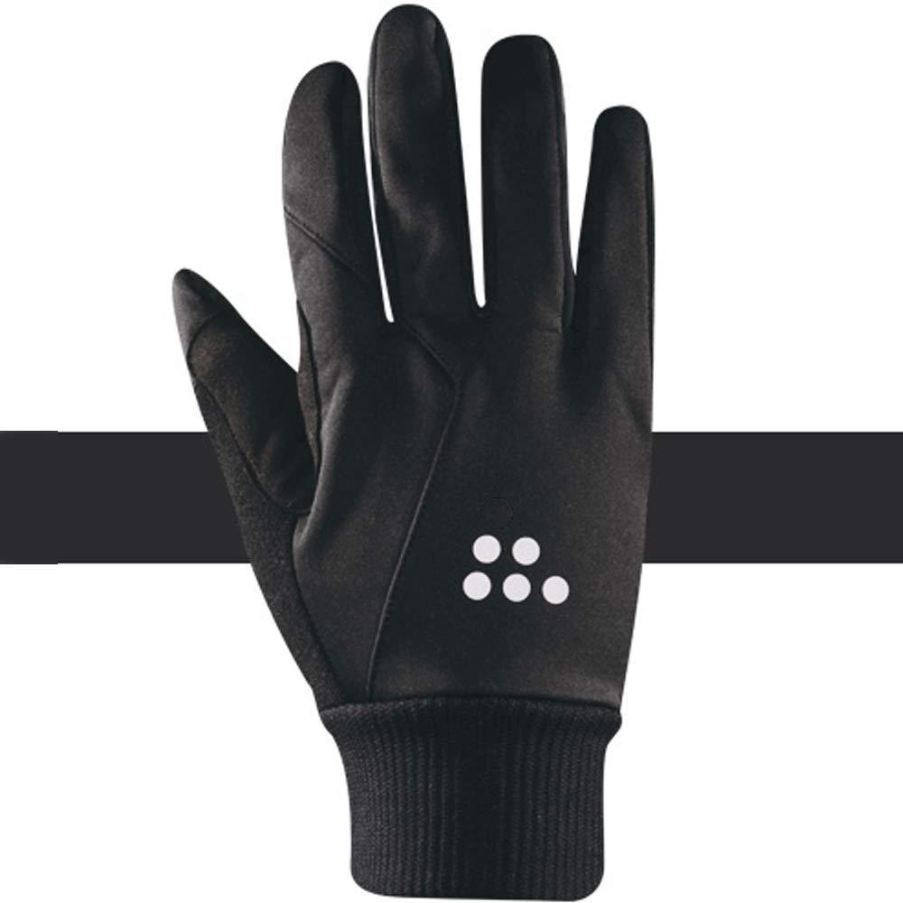 TLMYDD Herbst Und Winter Reiten Alle Männer Touchscreen Winddicht Warm Motorrad Fahrrad Lange Fingerhandschuhe, Eine Vielzahl Von Farben Handschuh (Farbe : SCHWARZ, größe : XL)