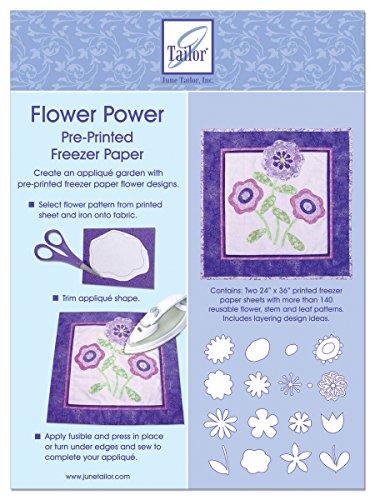 June Tailor Flower Power Pre-Printed Freezer Paper