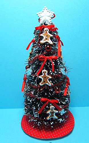 dollhouse miniature fully decorated christmas tree in gingerbread decor sc my mini fairy garden dollhouse