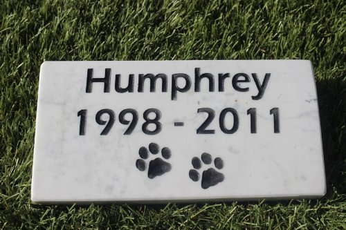 (Sandblast Engraved Marble Pet Memorial Headstone Grave Marker Dog Cat ndp 4x8)