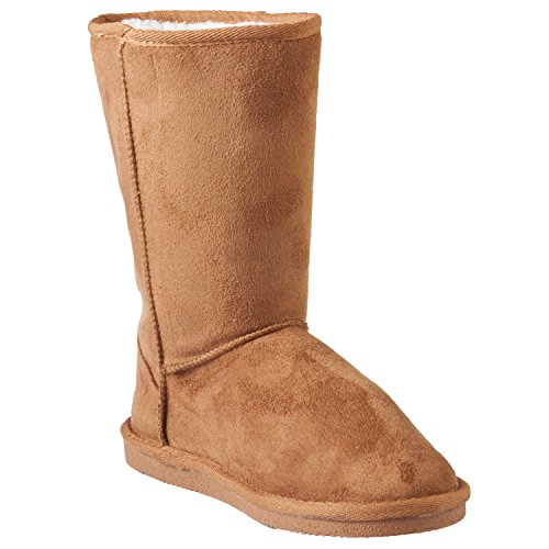DAWGS Hounds Womens Winter Faux Shearling Mid Calf 9-inch Microfiber Boots
