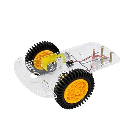 Gazechimp 2WD DIY Kit de Chasis Coche de Robot Tracción Dos Ruedas Metal Arduino DC Motor