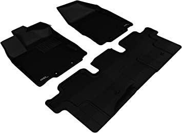 Kagu Rubber L1NS01801501 3D MAXpider Complete Set Custom Fit All-Weather Floor Mat for Select Nissan Murano Models Gray