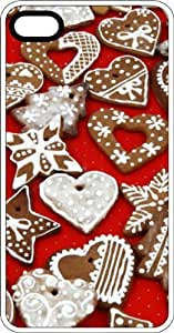 MMZ DIY PHONE CASEGinger Bread Cookies White Plastic Case for Apple iphone 4/4s