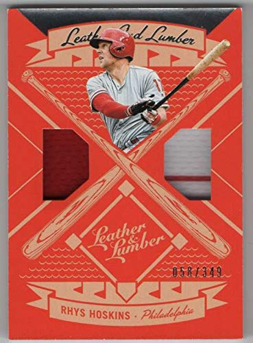 2019 Panini Leather & Lumber Dual Jersey #25 Rhys Hoskins Phillies Relic SER/349