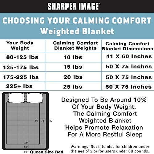 Calming comfort and ease Weighted Blanket by Sharper get a look 15 lb 50 in x 75 in A Luxurious Heavy Blanket for Reducing Stress ADHD normal Production of Serotonin Melatonin Anxiety Relief better Sleep