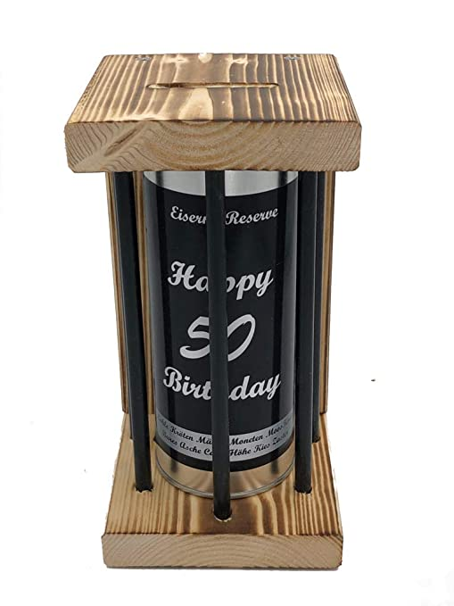 Happy Birthday 50 Eiserne Reserve ® Black Edition Spardose ...