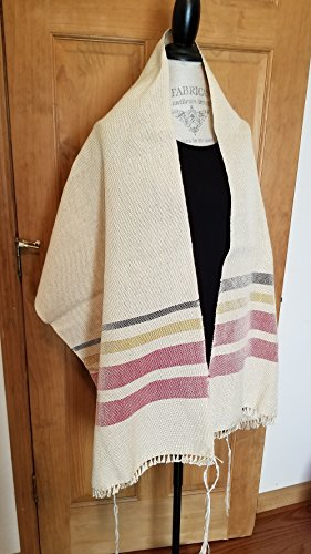 Rose of Sharon Handwoven Tallit by Ephods and Pomegranates Handwovens