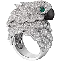 925 Silver Woman Man 8.6CT White Topaz&Emerald Wedding Engagement Ring Size 6-10 by Siam panva (8)