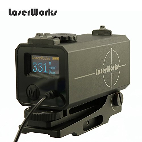 LaserWorks LE-032 Riflescope Mate rangefinder 700M Mini Tactical Outdoor Hunting Shooting Range Finder Archery Crossbow Sight Target Scope Black