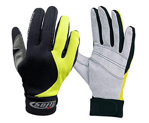 Tilos 1.5mm Amara Palm Mesh Tropical Gloves Yellow, XL