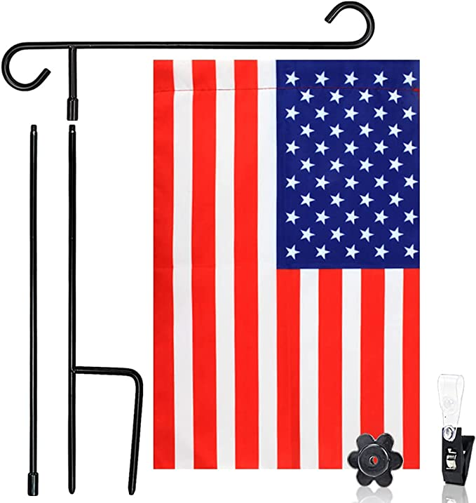 """45/"""" Heavy Duty Metal Stand for Garden Flags and Yard Pennants NEW in Package"""