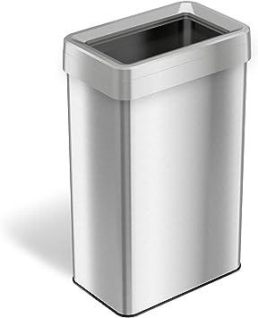 Amazon.com: iTouchless 21 galones/80 litros rectangular abre ...
