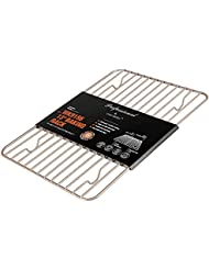 Momugs 8 x 12 Nonstick Carbon Steel Cooling Baking Roasting Rack Heavy Gauge Fits Jelly Roll Pan Oven-Safe Rust-Resistant, Champagne Gold