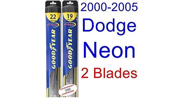 2000 - 2005 Dodge Neon hoja de limpiaparabrisas de repuesto Set/Kit (Goodyear limpiaparabrisas blades-hybrid) (2001,2002,2003,2004): Amazon.es: Coche y moto