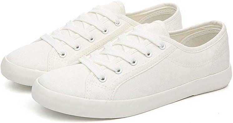 Classic Women Sneakers White Canvas